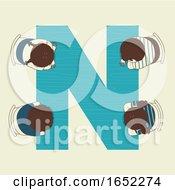 Kids Alphabet School Nap Time Illustration