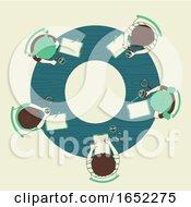 Kids Alphabet School Observation Illustration