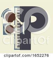 Kids Alphabet School Piano Lesson Illustration