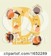 Kids Alphabet School Drawing Illustration