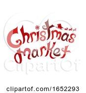 Christmas Market Text Design Illustration