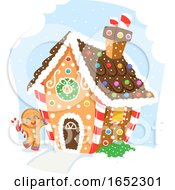 Ginger Bread Man House Illustration