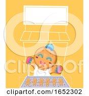 Ginger Bread Man Stall Illustration