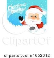 Santa Christmas Market Board Illustration
