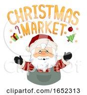 Santa Claus Christmas Market Lettering