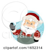 Santa Claus Christmas Market Speech Bubble