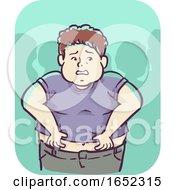 Kid Boy Self Conscious Illustration