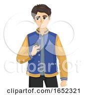 Teen Boy Inattentive Illustration