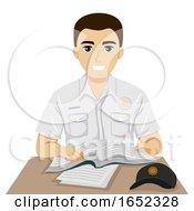Teen Guy Criminal Justice Student Illustration