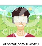 Teen Guy Digital Environment Illustration