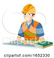 Teen Guy Engineering Student Illustration