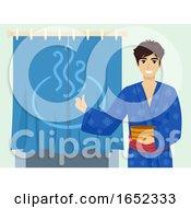 06/06/2019 - Teen Guy Onsen Bath Guys Bath House Door