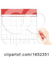 06/06/2019 - Hand Calendar Blank Illustration