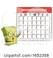 Mascot Book Calendar Illustration