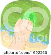 Hand Shore Algal Bloom Illustration