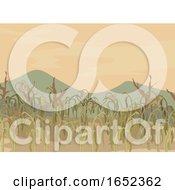 06/06/2019 - Corn Field Dying Crops Illustration