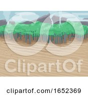 Eco Crisis Deforestation Background Illustration