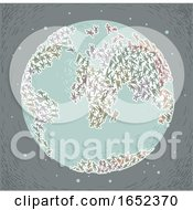 Eco Crisis Earth Overpopulation Illustration
