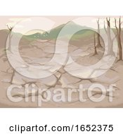 Eco Crisis Soil Degradation Illustration
