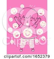 Poster, Art Print Of Kid Boy Child Raising Happy Light Environment