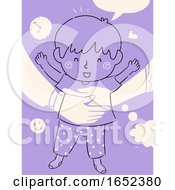 Kid Boy Child Raising Parent Time Illustration