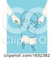 Poster, Art Print Of Kid Boy Child Raising Support Security