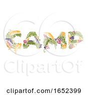 Tropical Camp Lettering Illustration