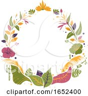 Tropical Plants Frame Illustration
