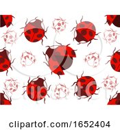 Lady Bug Pattern Seamless Background Illustration