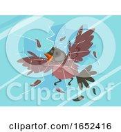 Bird Glass Collision Illustration