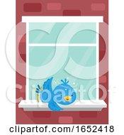 06/06/2019 - Bird Window Glass Collision Explain Illustration