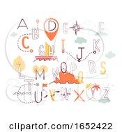Geography Alphabet Illustration