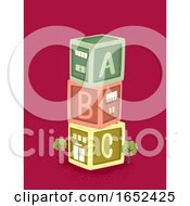 Toy Blocks Building Illustration