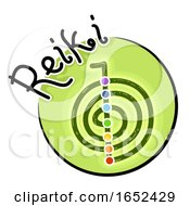 Reiki Symbol Icon Illustration