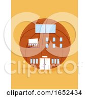Basketball Ball Sports Building Illustration