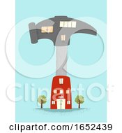 Poster, Art Print Of Hammer Building Illustration