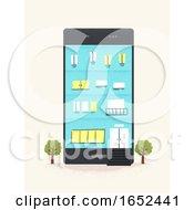 Mobile Phone Building Illustration