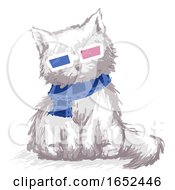 Cat Film Glasses 3D Illustration
