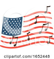 American Flag Day Song Illustration