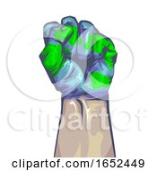 Hand Fist Save Earth Illustration