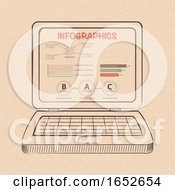 Infographic On Hand Drawn Style Laptop Computer