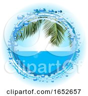 Tropical Summer Holiday On Water Bubble Border