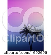 Palm Trees On A Gradient Background