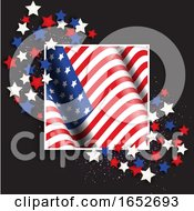 4th July Independence Day Background With American Flag And Stars