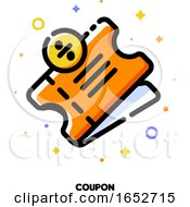 Icon Of Discount Ticket With Percent Sign