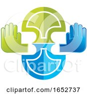 Poster, Art Print Of Abstract Hand Icon