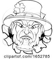 Poster, Art Print Of Leprechaun Sports Mascot Ripping Background