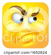 Poster, Art Print Of Annoyed Emoji Emoticon Icon Cartoon Character