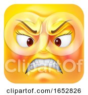 Poster, Art Print Of Angry Woman Emoji Emoticon Icon Cartoon Character