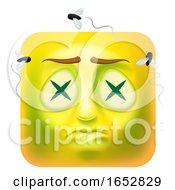 Poster, Art Print Of Dead Zombie Emoji Emoticon Icon Cartoon Character